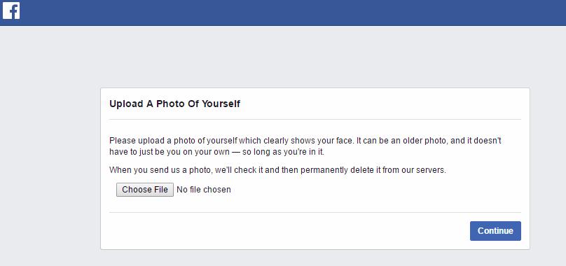 Facebook - weryfikacja konta użytkownika