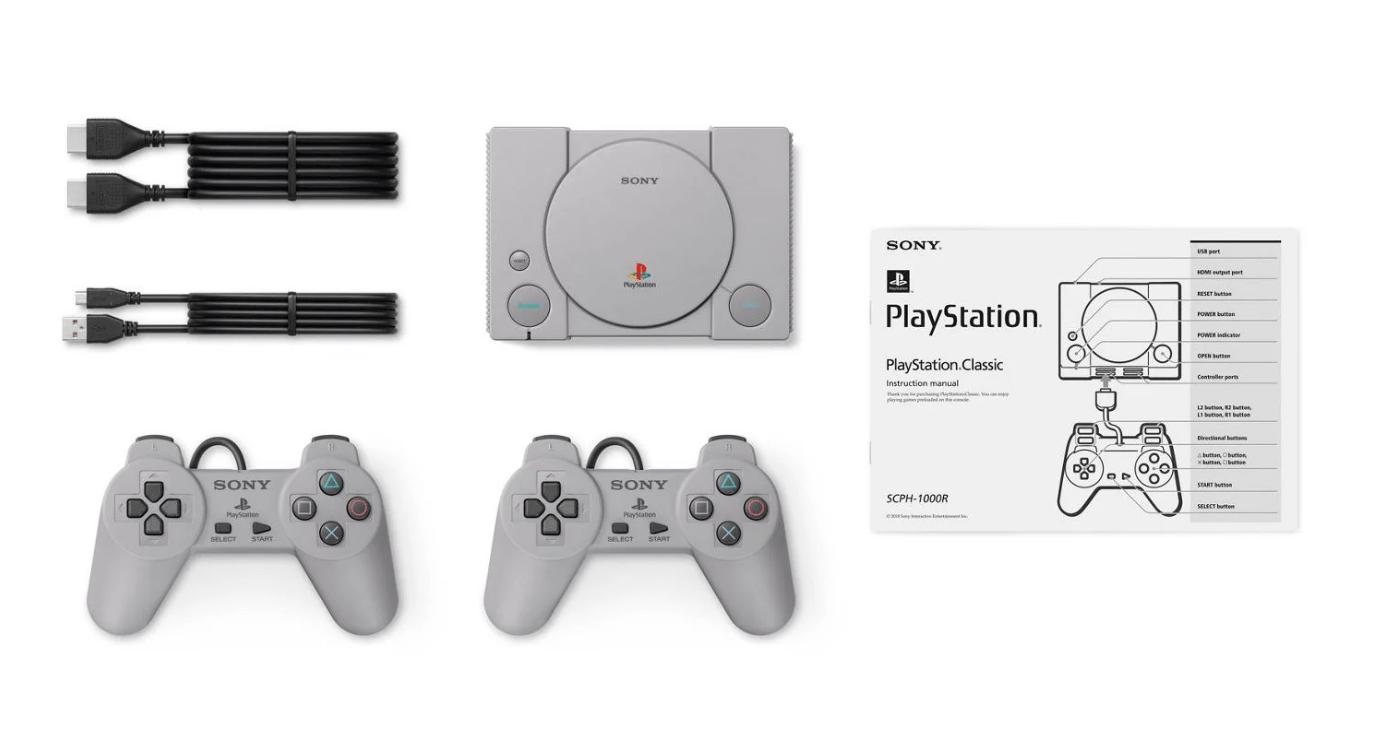 zawartość zestawu PlayStation Classic