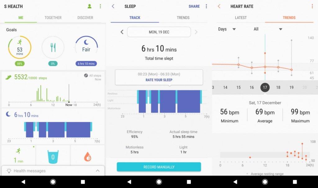 Aplikacja S Health wgear s3