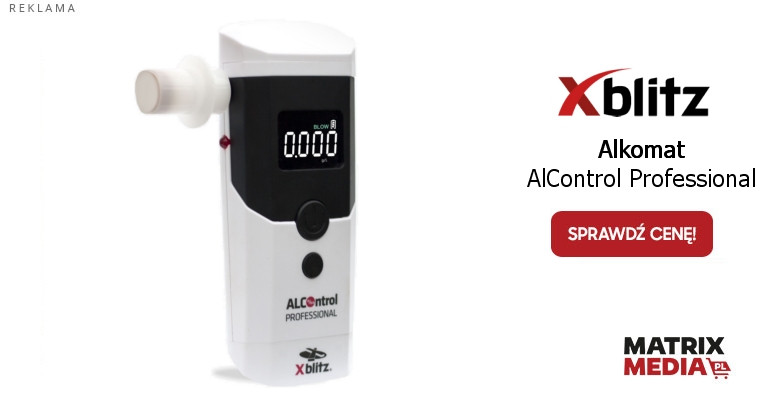 Alkomat Xblitz Alcontrol Professional kupisz wmatrixmedia.pl
